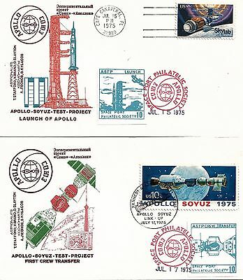 Apollo-Soyuz Space Test Project - Set of 5 Covers for Stages of Mission 1975