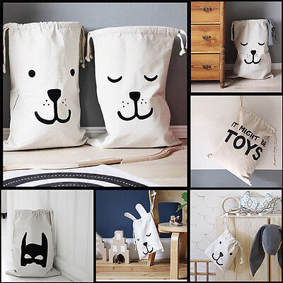 Cartoon Washing Clothes Laundry Basket Baby Kids Toys Storage Bags Hanging Bags