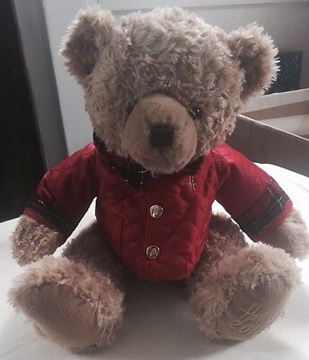 "Harrods 13"" Sitting Holiday Plush Collectable Bear 2014"