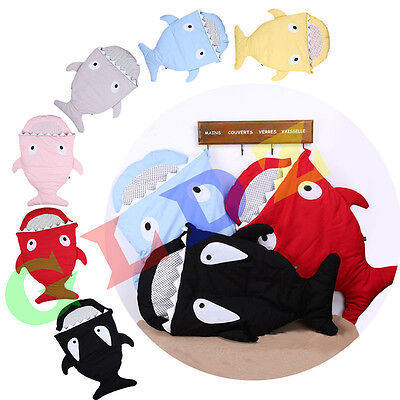 New winter Shark Baby Infant Swaddle Blanket Wraps Sleeping Bag For Pram Bed