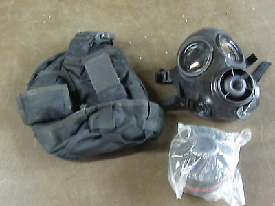 AVON CBRN-FM-12 Respirator Gas Mask W/ Bag And Filter.  Size 1 LARGE