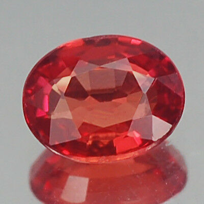 Sensational Top Aa Vivid Fiery Red Oval Ruby Natural