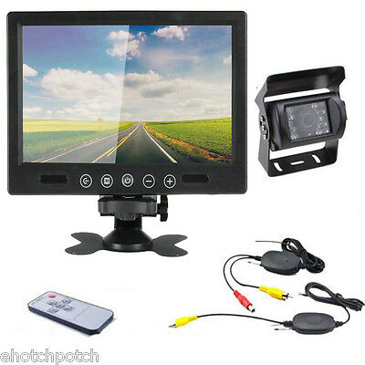 "Wireless Rear View Back up Camera Night Vision System + 9"" Monitor for RV Truck"