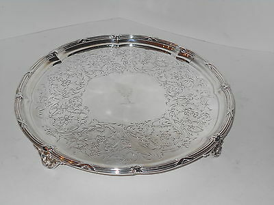 Antique Storr/mortimer Sterling Silver Stag Crest Salver Tray 1844