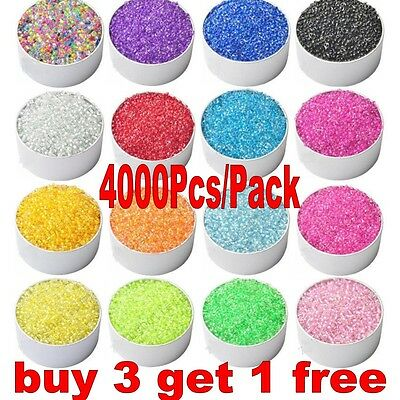 4000Pcs 2mm Czech Glass Seed Spacer Beads DIY Jewelry Making 22 Colors Pick