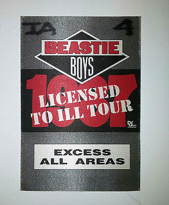 "*RaRe* (1987) BEASTIE BOYS ""License To Ill"" CONCERT All Access PASS *Real*"
