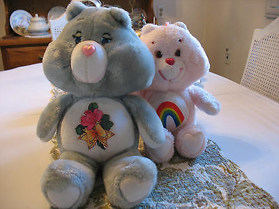 Vintage Care Bear Plush Lot of 2 Cheer and Grams