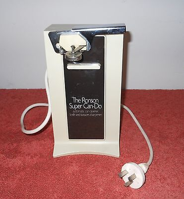 """Vintage Original Ronson """"super Can-Do"""" Automatic Electric Can Opener~ Japan"""