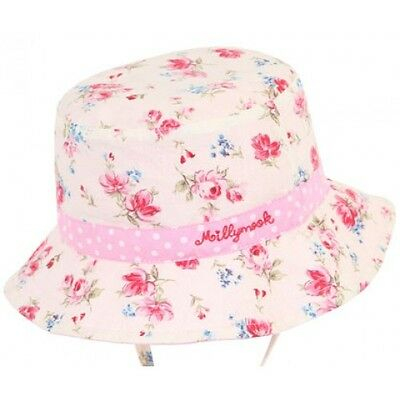Millymook Baby Girls Bucket Hat - Vintage Floral - BNWT