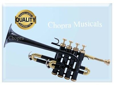 Piccolo Trumpet 4 Valve with Box Professional High Quality