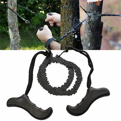 Outdoor Emergency Survival chain Saw Sawing Pocket Plastic handle Tools