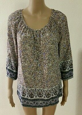 Kenar NWT Women's Female Shirt Blouse 3/4 sleeve long, M size, Multi-colored