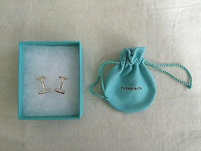 Tiffany & Co Sterling Silver 'Tiffany Notes' square cuff links