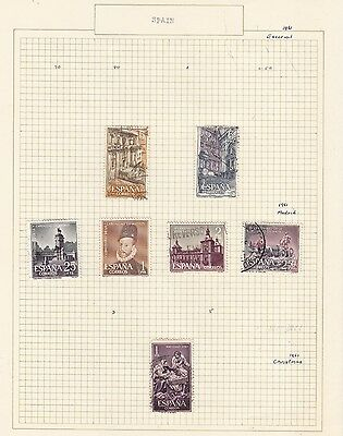 SPAIN 1961,... Collection  on Old Album Page  items removed for Postage