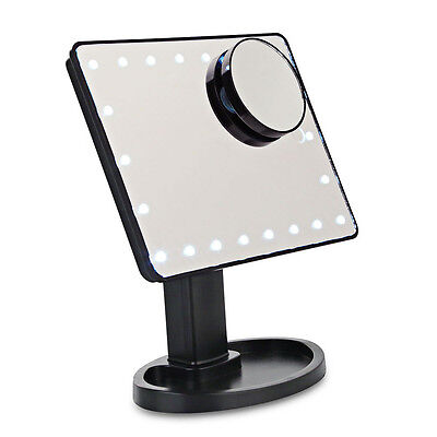 Beauty Cosmetic Make Up Illuminated Desktop Stand Mirror With 22 LEDs Light AUS