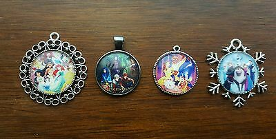 Disney inspired cameo necklaces