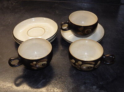 Denby Bakewell 3X cups and saucers perfect