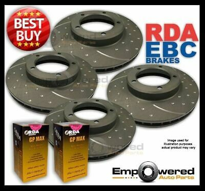 FULL SET DIMPLED SLOTTED Holden Cruze JH 1.4T 2011-2015 DISC BRAKE ROTORS + PADS