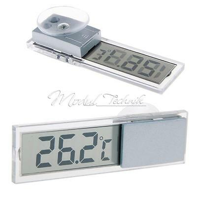 LCD Digital Display Temperatur Messgerät Indoor/Outdoor Saugnapf KFZ Thermometer