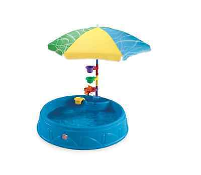 Step 2 Above Ground Outdoor Round Inflatable Baby Swimming Water Shade Play Pool