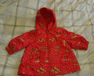 Next baby girls red spotty raincoat age 3-6 months