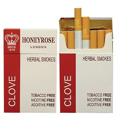 Honeyrose Clove Herbal Smokes 1 Pack Of 20's (Free Signed For Delivery)