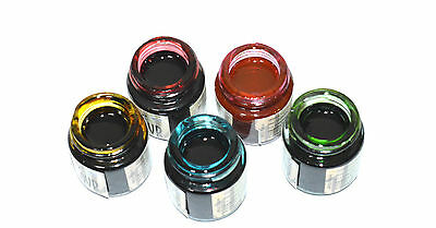 5 x SOLVENT BASED GLASS PAINTS  BLACK OUTLINER  Glass paints