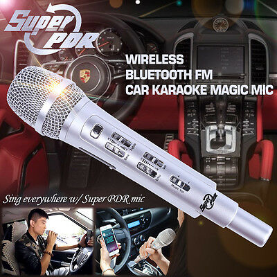 Super PDR Car Sing Karaoke Mic FM Bluetooth Wireless Dynamic For Iphone Android