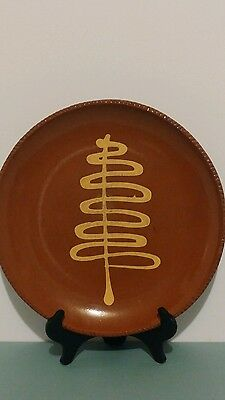 Wisconsin Pottery Redware Plate J. D. Huntley