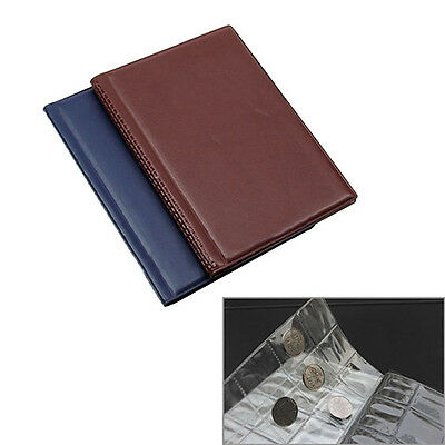 Money Penny Pockets Collection Storage Album Book 120 Pcs Coin Holders Glaring