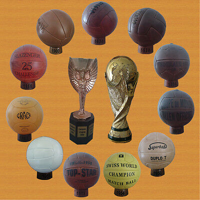 1930 – 1966 World Cup balls collection + Jules Rimet + FIFA trophy (PRE ADIDAS)