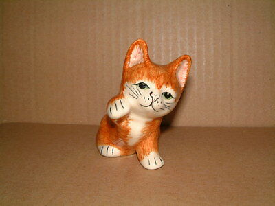 Sweet Little Hand Painted Babbacombe Pottery Ginger Kitten - Lownds - Pateman