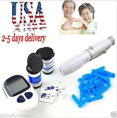 USA ship Blood Glucose Starter Kit Glucometer  Meter Monitor with 50 test strips
