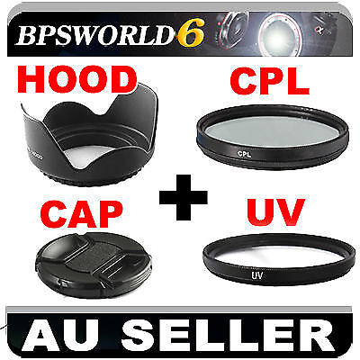 55mm UV+CPL Filter+Flower Hood+Lens Cap For canon 600D 700D 70D 60D nikon D5200