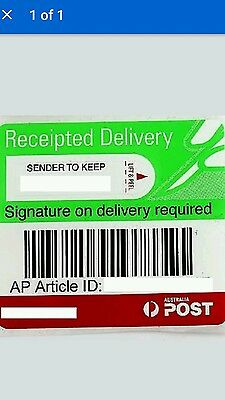 500 x  Australia Post Signature on Delivery Labels Clearance $600.00  Bargain