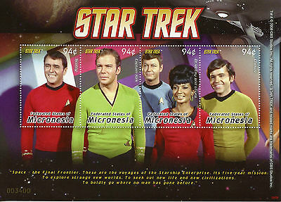 Micronesia 2008 MNH Star Trek 4v M/S I Captain Kirk Scotty Dr McCoy Uhura Stamps