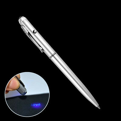 LED Currency Detector High Quality Secret Message Invisible Ink Marker Spy Pen