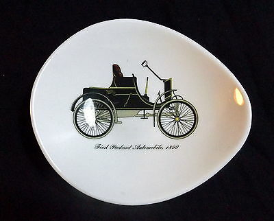 "Staffordshire Queensberry Dish "" First Packard Automobile 1899 "" Size 17 x 15 cm"