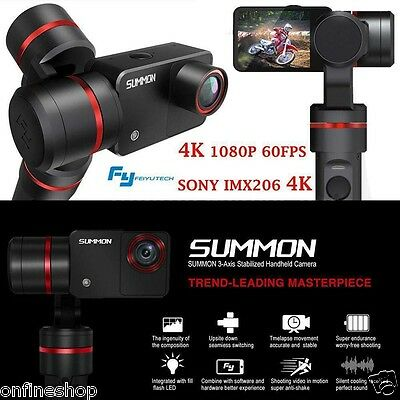 Summon 3-axis Handheld Gimbal Stabilizer+4K HD 1080P 360° DV Action Camera 1A