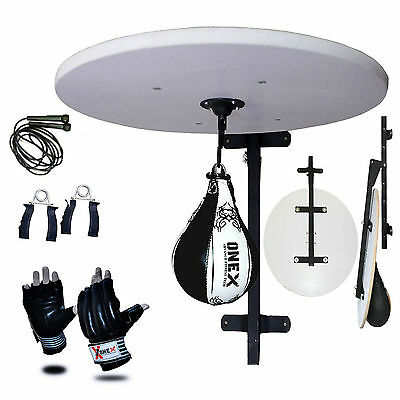 Boxing Speed Ball Platform + Adjustable Stand Boxing Gloves Bracket Free Rope