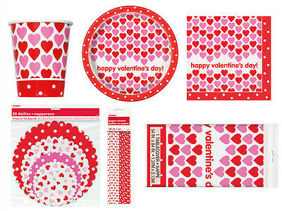 Happy Valentine's Day Party Tableware Napkins Plates Cups Tablecover - Clearance