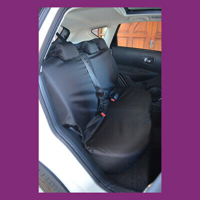 Tailored & Waterproof Black Rear Seat Cover Fits Nissan Qashqai 2007-2013
