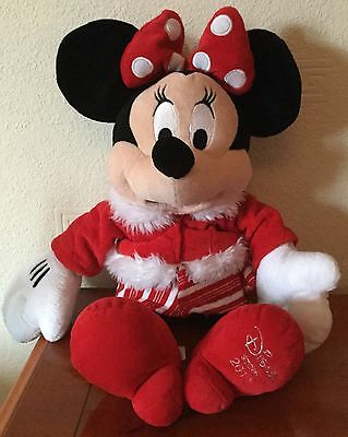 Disney Store 18 Inch Minnie Mouse Soft / Plush Toy Dated 2010