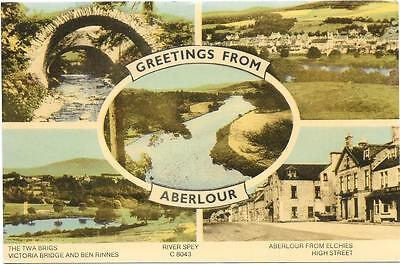 Attractive Aberlour Mv,coloured Postcard