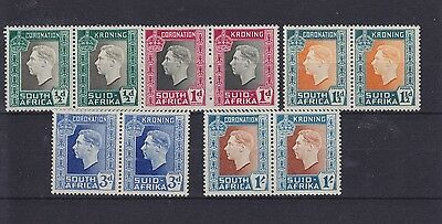 South Africa KGVI Coronation SG 71/75 1937 Lightly Mounted Mint