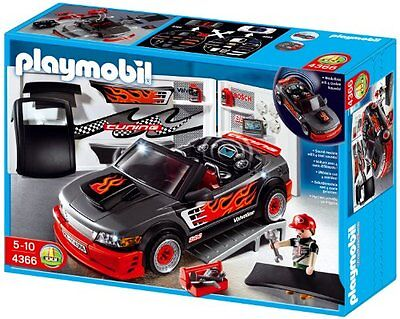SEHR GUT: Playmobil 4366 Tuning Workship and Car with Sounds