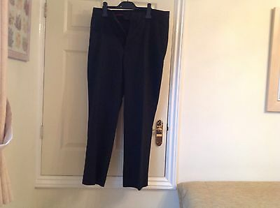 MENS  F AND F TROUSERS 34 waist. 29ins leg polyester. and viscose, Black ,