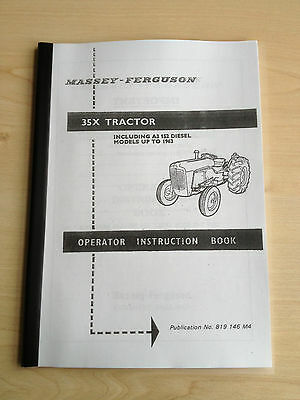 84 Page Massey Ferguson 35X Tractor Manual/Instruction Book