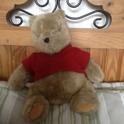 Gund Classic Pooh Plush Bear With Red Vest