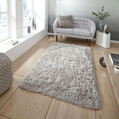 THICK 5cm PILE 100% COTTON CHENILLE MODERN SOFT SHAGGY RUG BATHROOM/HOME